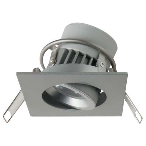 8W Integrated Siena Square Dimming Silver 2800K